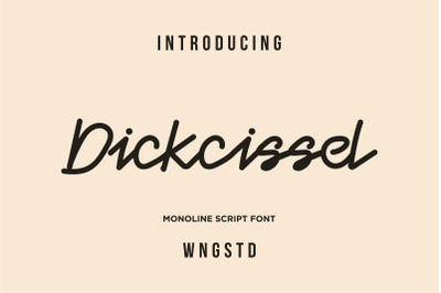 Dickcissel - monoline font