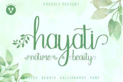 Hayati - beautiful handwritten font