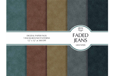 Faded Jeans Digital Paper Pack