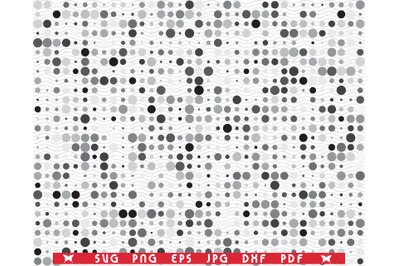 SVG Gray Circles, Seamless pattern digital clipart
