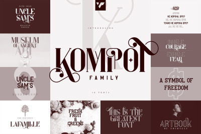 Kompot Family - 10 fonts