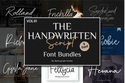 Handwritten Script Font Bundles