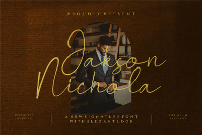 Jakson Nichola - Signature Font