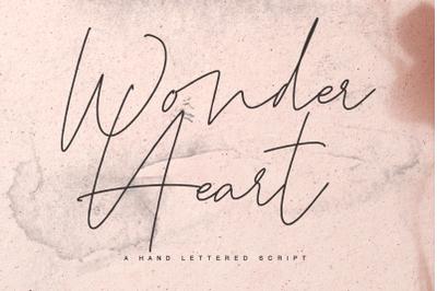 Wonder Heart a hand lettered script