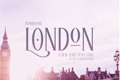 London Serif Font (Serif Fonts, Logo Fonts, Professional Fonts)