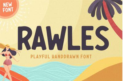 RAWLES Playful Handdrawn Font