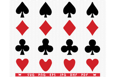 SVG Playing Card, Symbols Silhouettes digital clipart