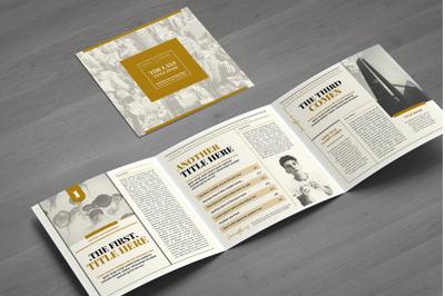 Modern Newspaper Square Brochure
