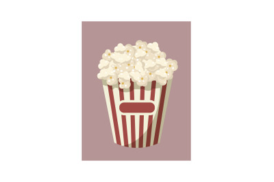 Popcorn icon, cartoon style