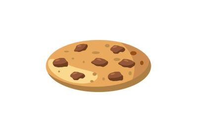 Pie or pizza icon, cartoon style