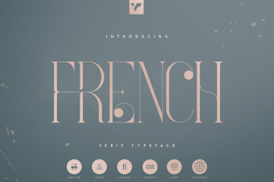 French Typeface - 4 fonts