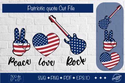 Patriotic SVG quotes, heart flag svg, patriotic flag