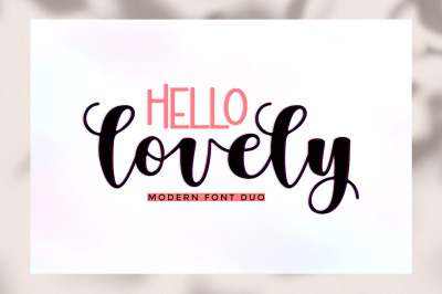 Hello Lovely Font Duo