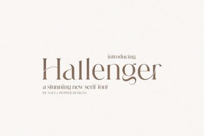 Hallenger Serif Font (Serif Fonts, Gorgeous Fonts, Logo Fonts)