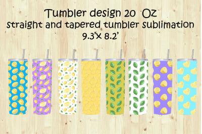 Tumbler Sublimation&2C;Tumbler Design 20oz.Watercolor Lemon sublimation