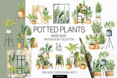 Potted plants, Part 2. Interior clipart