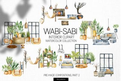 Wabi-sabi interior scenes clipart, Part 2