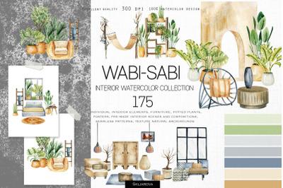 Wabi-sabi watercolor collection