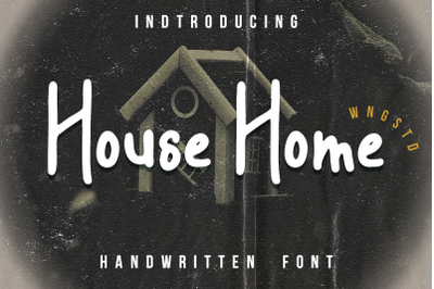 House Home - a sweet and friendly display font