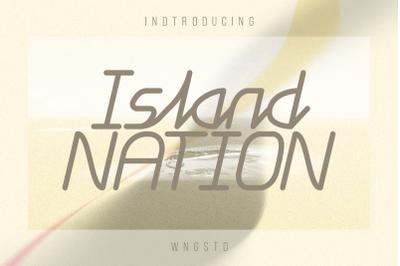 Island Nation - cool, minimalistic and modern display font