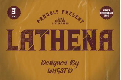 Lathena - daring vintage styled display font