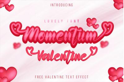 Momentum Valentine - a sweet lovely handwritten font