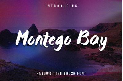 Montego Bay - a lovely paint brushed script font