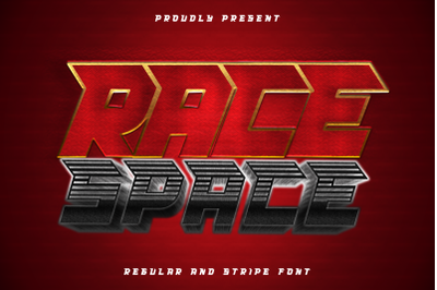 Race Space - a bold and eye catching display font