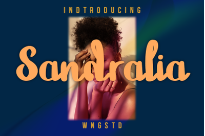 Sandralia - a cute and quirky handwritten font