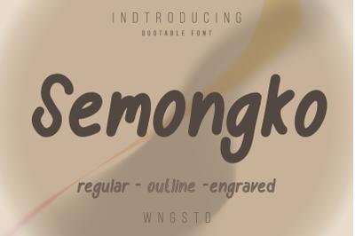 Semongko - a cute display font