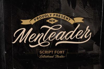 Menleader - Script font