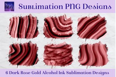 Sublimation PNG Designs - Dark Rose Gold Alcohol Ink Images