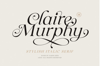 Claire Murphy - Stylish Italic Serif