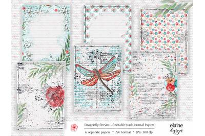 Dragonfly Dream Junk Journal Paper