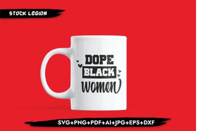 Dope Black Women Hearts SVG