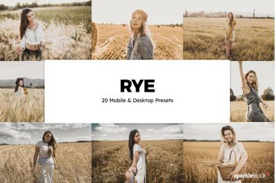 20 Rye Lightroom Presets & LUTs