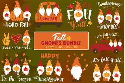 Fall Gnomes Bundle, Autumn Gnomes, Fall Svg, Gnomes Svg