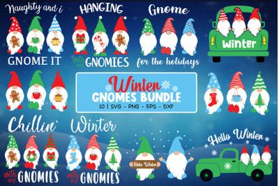 Winter Gnomes Bundle, Winter Svg, Gnomes Svg