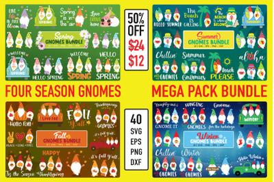 Four Season Gnomes Bundle, Holidays Gnomes Bundle, Summer Gnomes, Fall