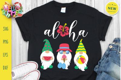 Aloha Gnomes Svg, Summer Gnomes Svg, Gnomes Svg