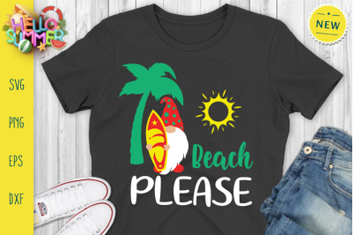 Beach Please Svg, Summer Gnomes Svg, Gnomes Svg, Beach Svg