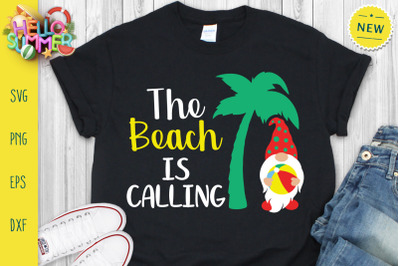 The Beach Is Calling Svg, Summer Gnomes Svg
