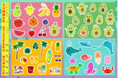 Sticker Bundle, Summer Stickers Svg, Fruits Sticker, Under The Sea Svg