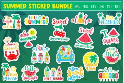 Summer Sticker Bundle Svg. Summer Svg, Summer Quotes Sticker Svg
