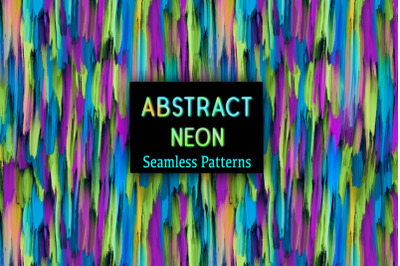 12 Colorful Neon Abstract Seamless Pattern