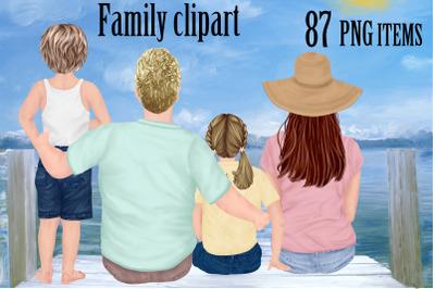 Family Clip Art,Custom Family Portrait,Brother Sister