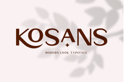 Kosans - Modern Look Typeface
