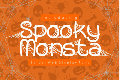 Spooky Monsta - Spider Web Display Font