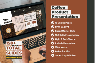 Coffee Shop Product Presentation PowerPoint Template