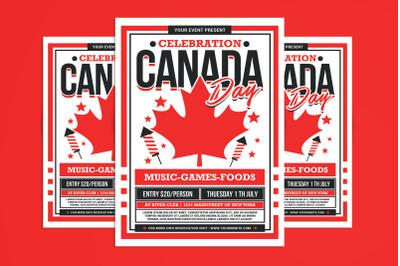 Canada Day Celebration Flyer